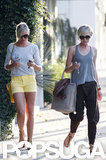 Cameron Diaz and Portia de Rossi left the hair salon chatting.