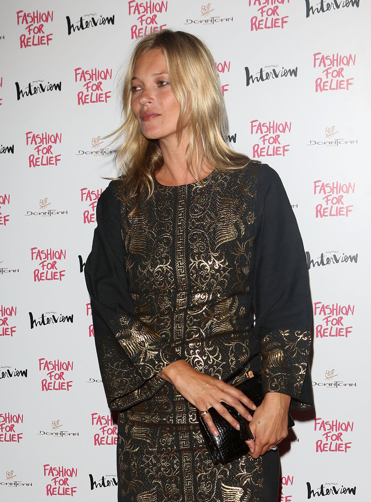 Kate Moss was in attendance at Naomi Campbell's Fashion for Relief charity dinner in London.
