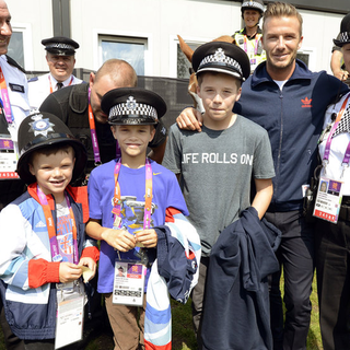 David Beckham Thanks Olympic Guards