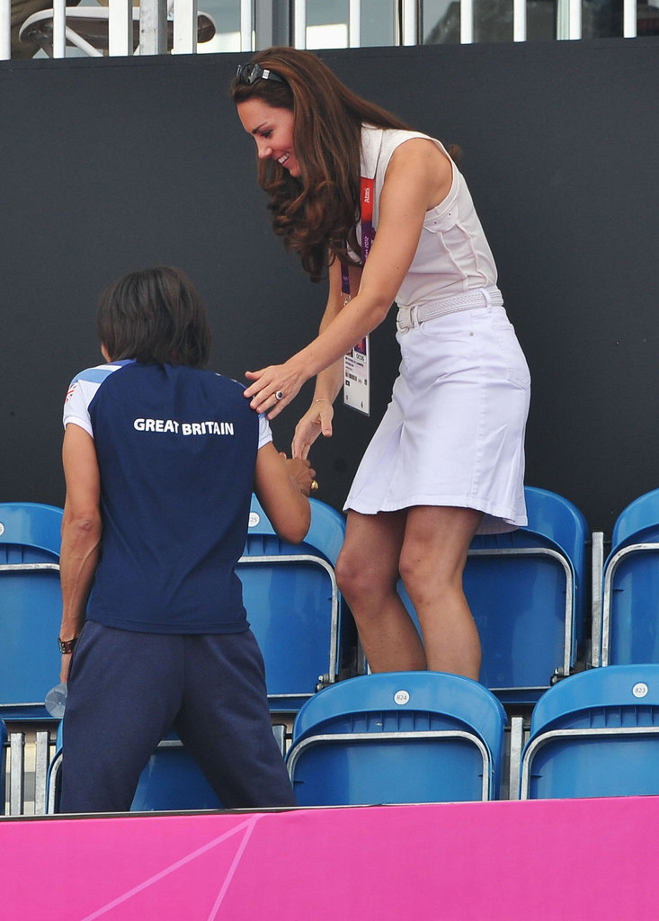 Kate Middleton was spotted in the stands.