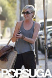 Portia de Rossi laughed with Cameron Diaz leaving the hair salon in LA.