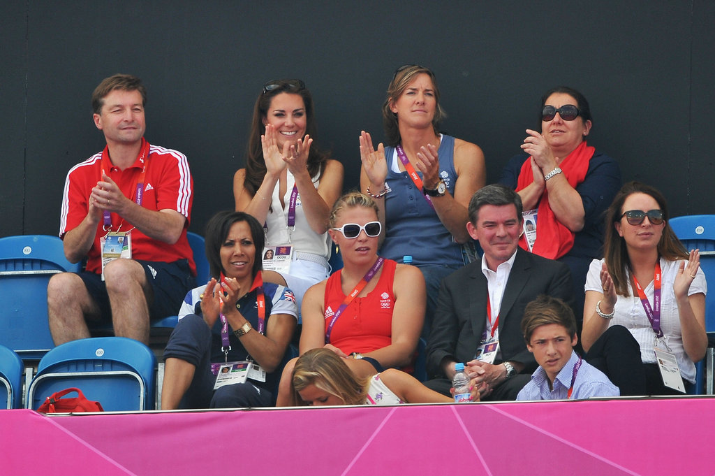 Kate Middleton applauded during the match.