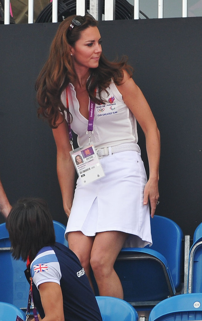 Kate Middleton wore a cute white ensemble.