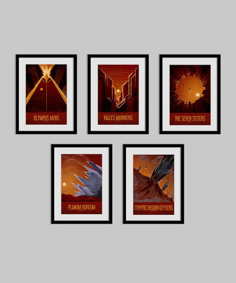 Mars Travel Poster Collection ($50)