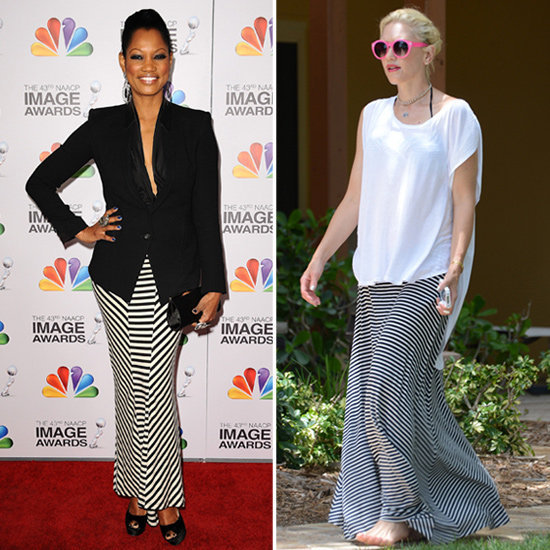 This is why you should have a striped maxi skirt in your closet.