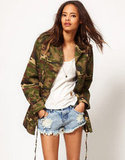 This roomy camo jacket makes us warmer just looking at it. ASOS Army Camo Jacket With Detachable Fur Trim Collar ($102)