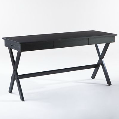 The Black Campaign Desk ($200) features two pullout drawers and could also double as an entry table.