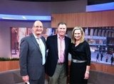 Sunrise hosts Kochie and Mel had Will Ferrell on the show to promote The Campaign. Source: Twitter user melissadoyle