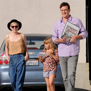 Jason Segel and Michelle Williams in LA With Matilda Ledger