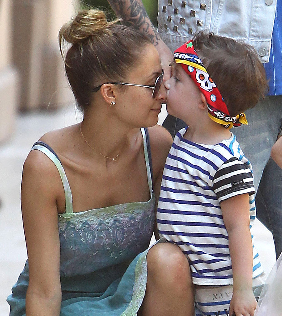 Nicole Richie got a sweet smooch from her son, Sparrow Madden, during a birthday party in July 2012.