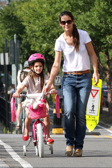 Katie Takes Suri on Her First Bike Ride!