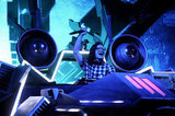 Skrillex had a rad-looking stage setup.