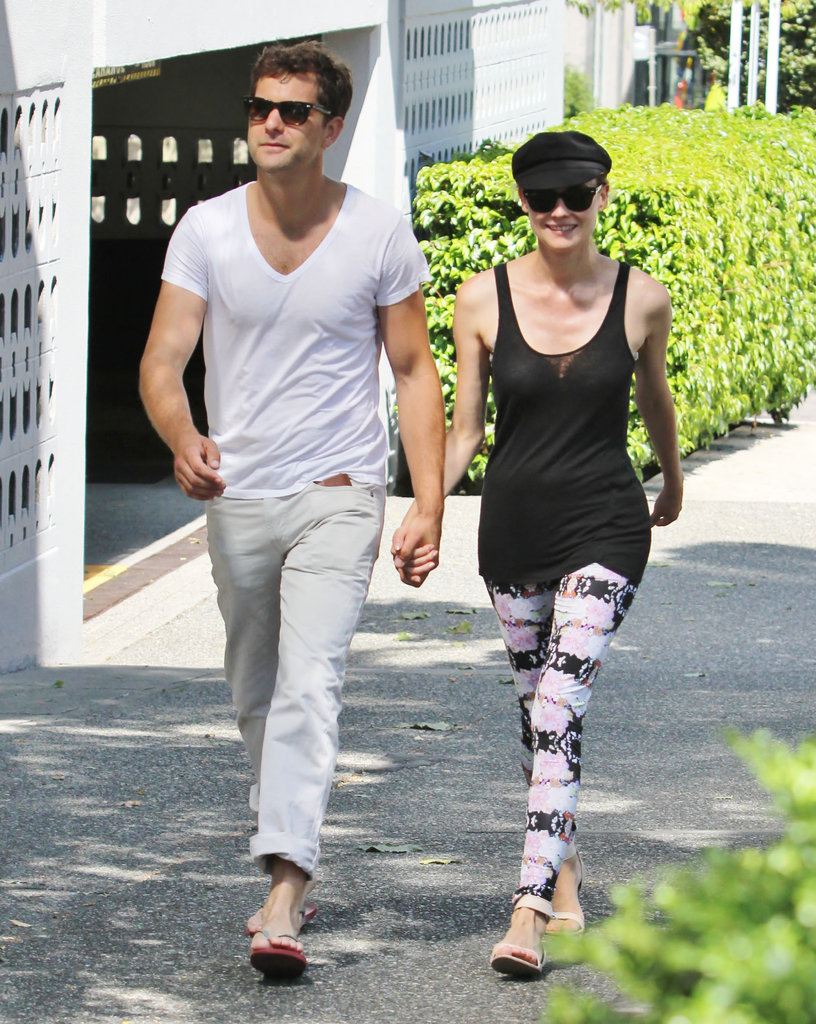Diane Kruger and Joshua Jackson held hands for a walk.