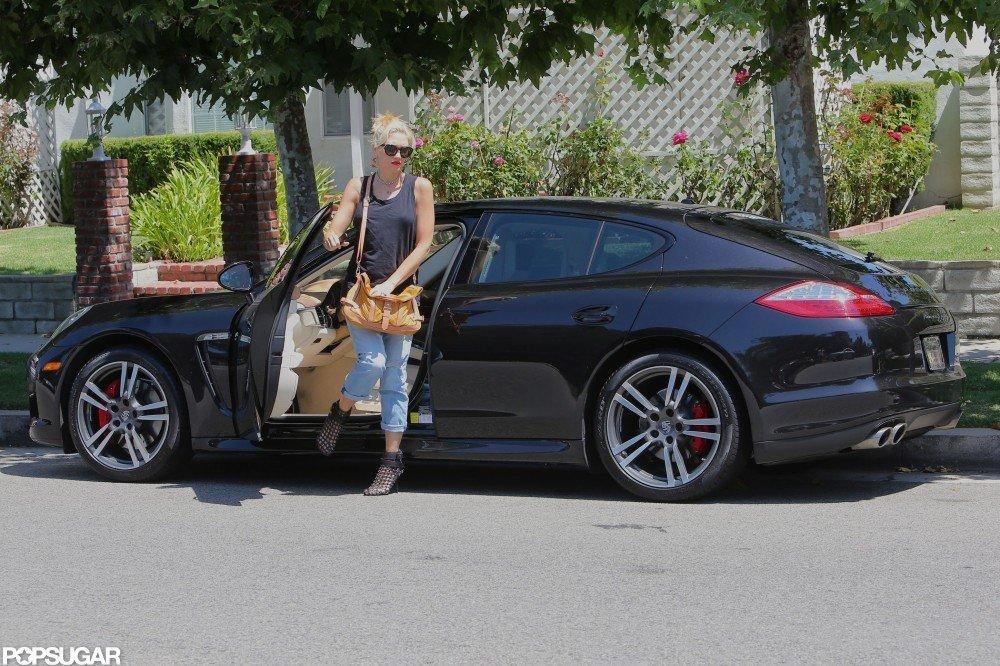 Gwen Stefani parked her car in Studio City.