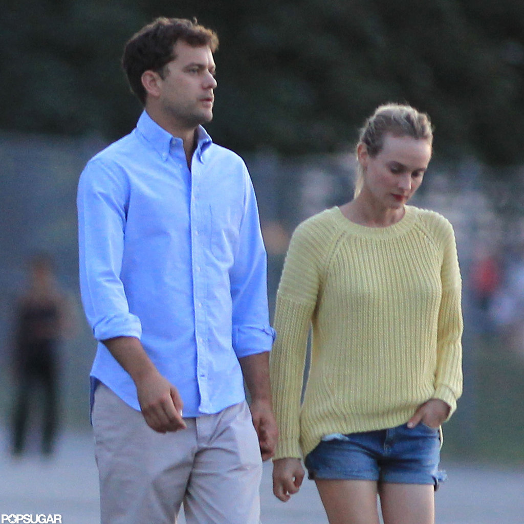 Joshua Jackson and Diane Kruger were out for a stroll in Vancouver.