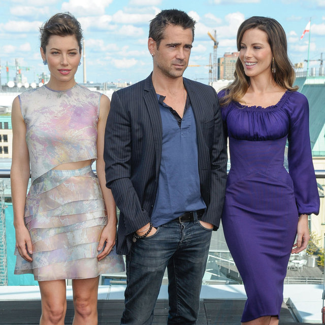 Kate Beckinsale and Jessica Biel Doing Press in Berlin