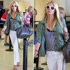 Gwyneth Paltrow in White Jeans at LAX