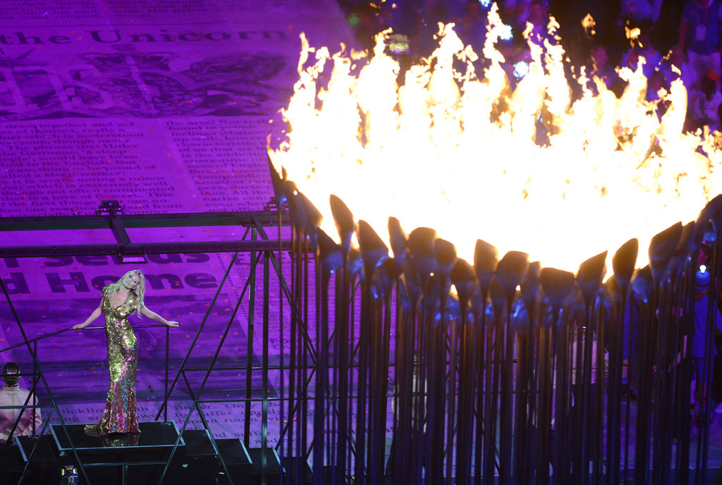 Kate Moss looked absolutely epic, with the torches aflame, from this angle.
