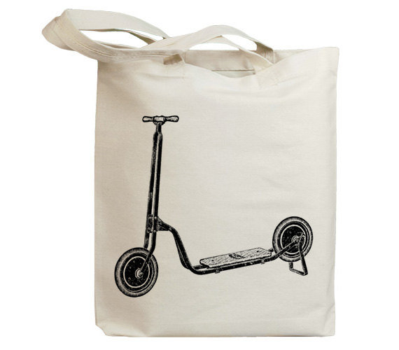 Retro Scooter Canvas Tote ($14)