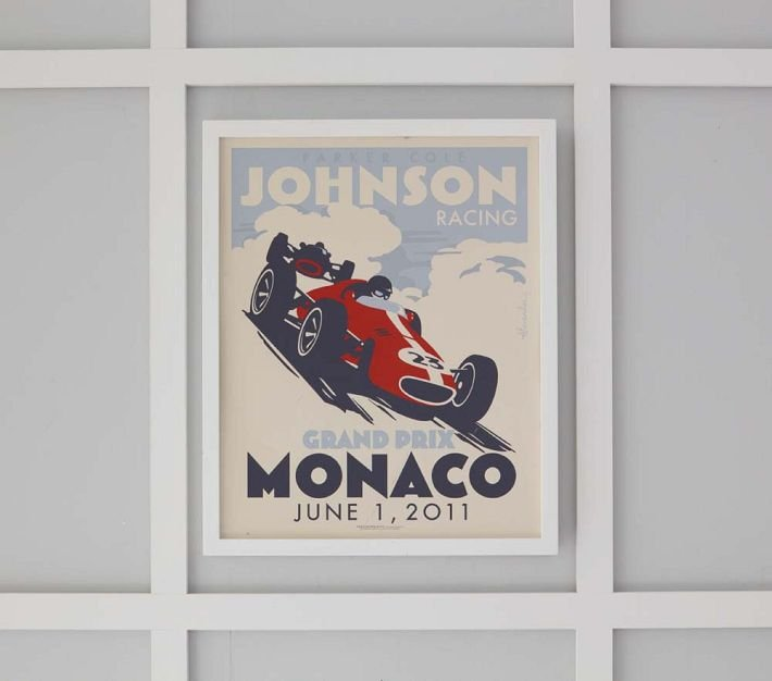 Personalized Race Car Art by Alexander & Co ($199)