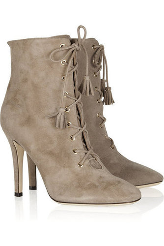 Jimmy Choo|Cinder suede lace-up ankle boots|NET-A-PORTER.COM