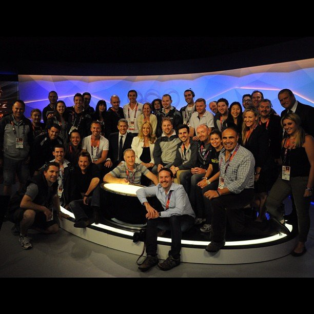 The Channel Nine Olympics team. Source: Instagram user leilamckinnon
