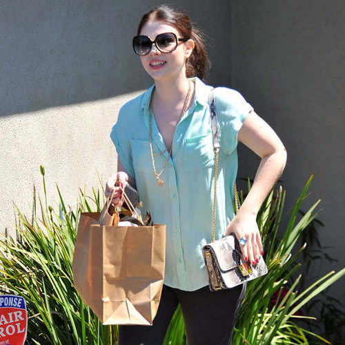 Michelle Trachtenberg Wearing Mint Top