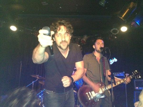 Thomas Ian Nicholas tweeted about rocking out at LA's Viper Room. Source: Twitter user TINBand
