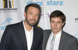 Ben and Casey Affleck posed for a photo at LA's Hollywood Awards in October 2007.