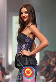 Miranda Kerr posed for a runway photo at the David Jones Season Launch in her hometown of Sydney, Australia.