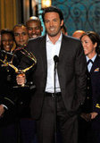 Ben Affleck accepted a Spike TV Guys Choice Award at the show's June 2011 ceremony in LA.
