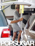 Jennifer Aniston donned a pair of shades on set.
