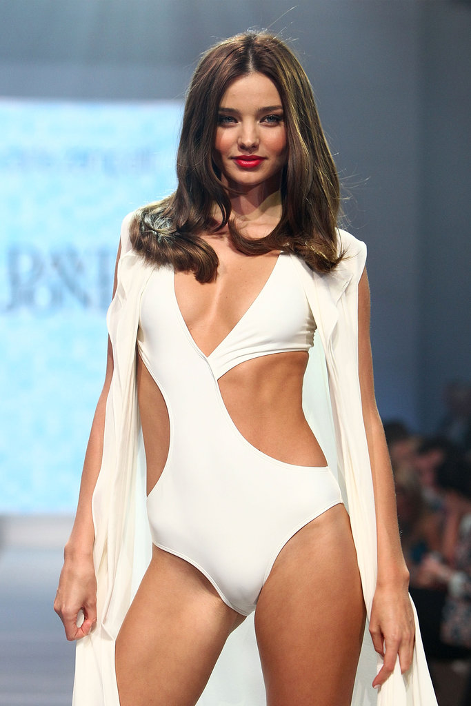 Miranda Kerr looked white hot in a David Jones 2012-2013 swimsuit.