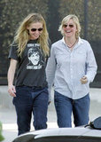 Ellen DeGeneres and Portia de Rossi were all smiles during a February 2006 outing in LA.