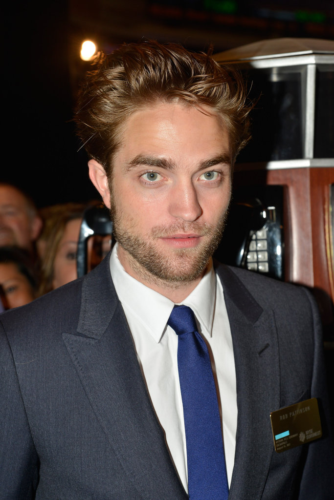 Robert Pattinson wore a blue tie to the New York Stock Exchange.