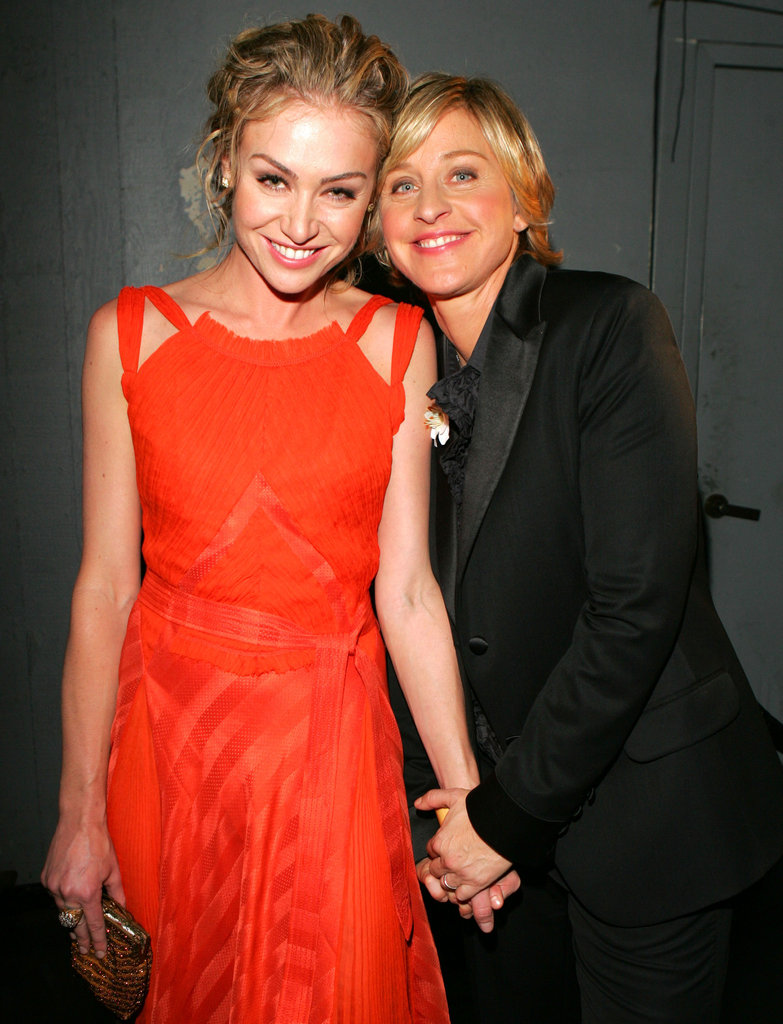Ellen DeGeneres held Portia de Rossi's hand during the September 2005 Emmys.