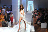 Miranda Kerr flaunted her long legs at David Jones's 2012- 2013 fashion show.