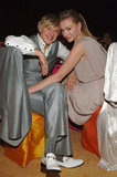 Portia de Rossi and Ellen DeGeneres hung out at Elton John's annual LA Oscar viewing party in February 2008.
