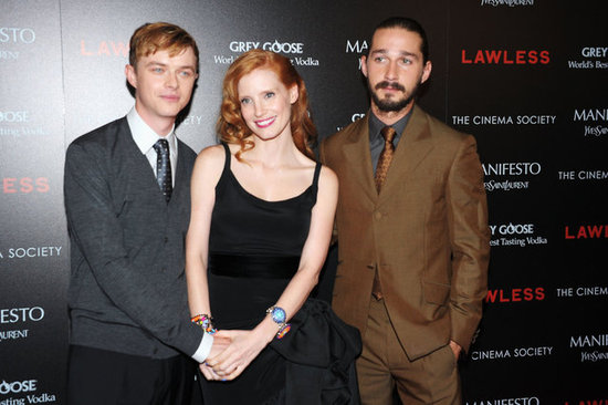 Shia LaBeouf, Jessica Chastain, and Dane DeHaan attended the Lawless screening in NYC.