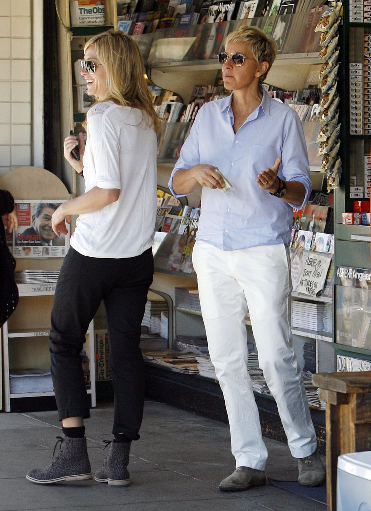 Ellen DeGeneres and Portia de Rossi picked up a few magazines in LA in February 2011.