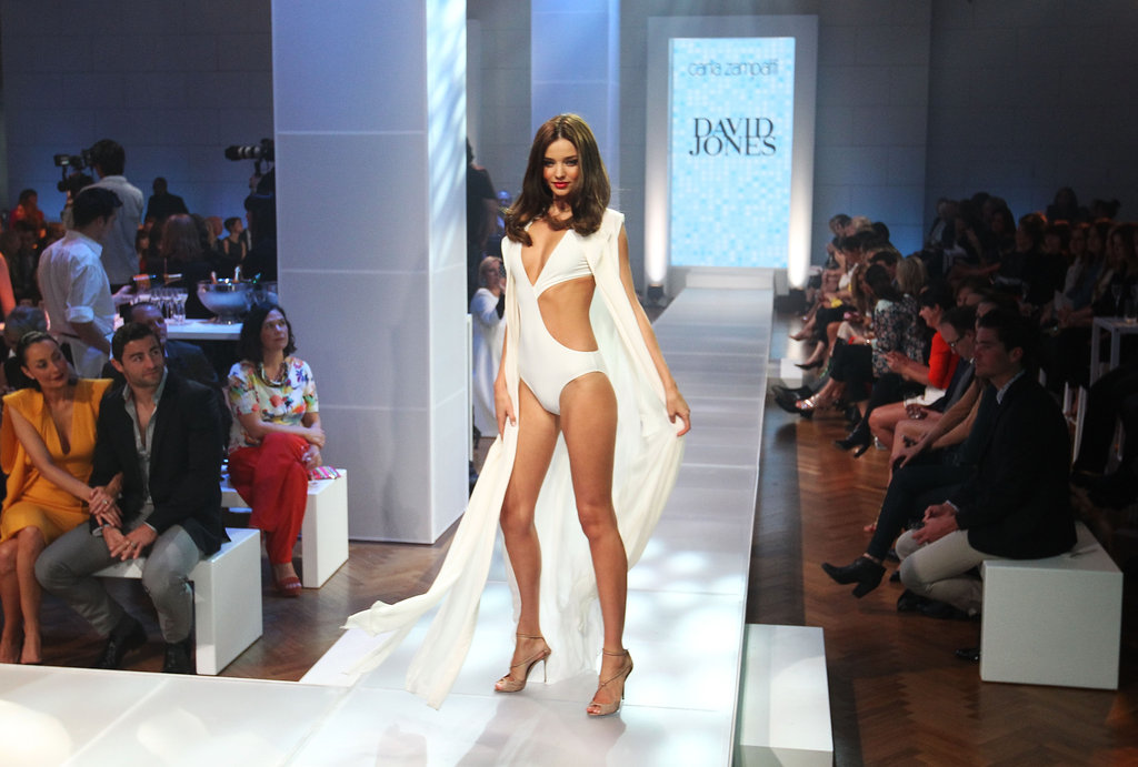 Miranda Kerr returned to her hometown of Sydney, Australia, to model in the David Jones 2012-2013 Season Launch.