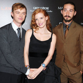 Shia LaBeouf and Jessica Chastain at NYC Lawless Premiere