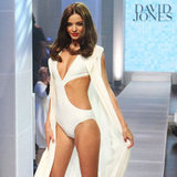 Miranda Kerr in a White Cutout Swimsuit | Pictures