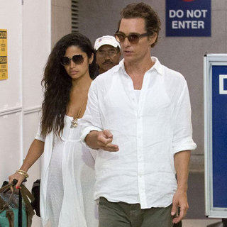 Matthew McConaughey and Camila Alves at LAX