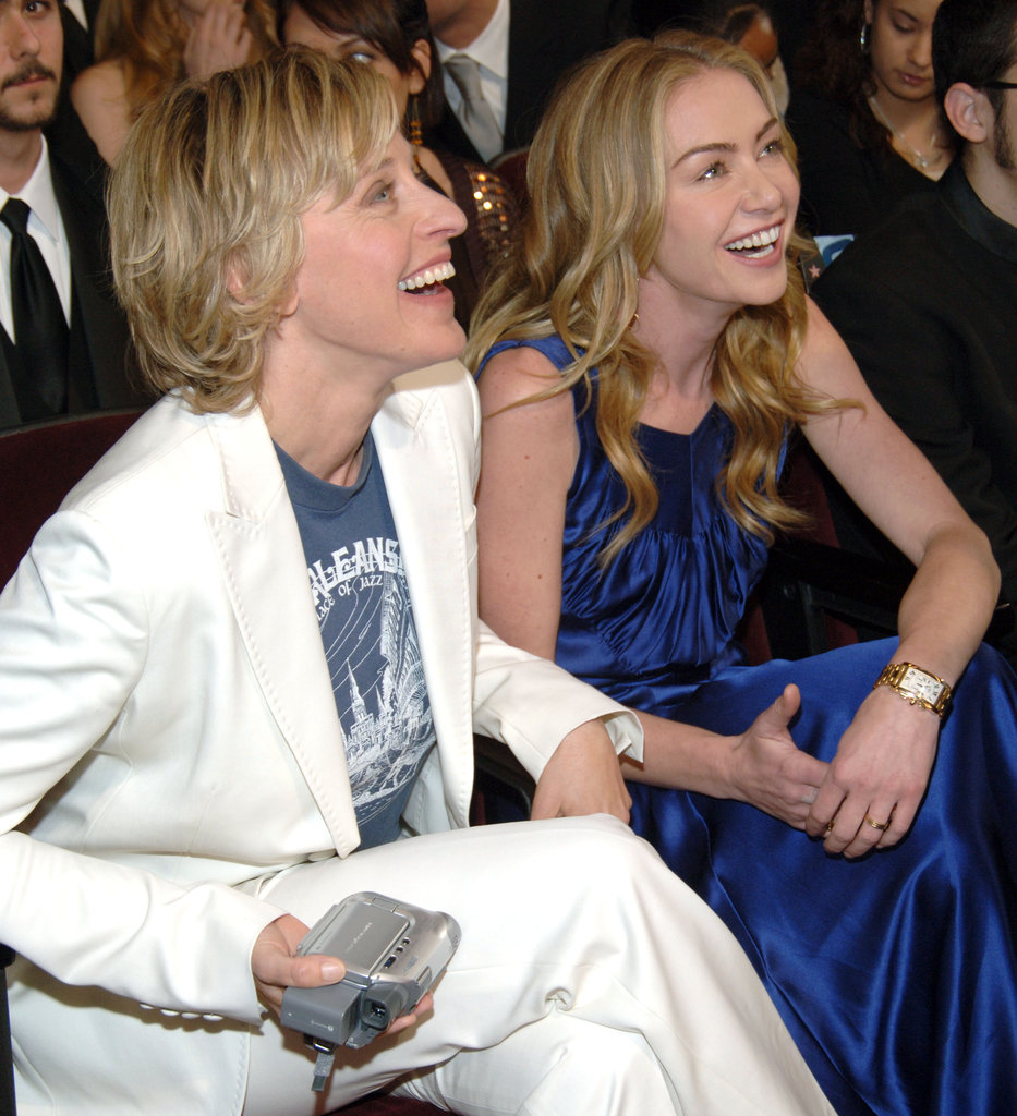 Portia de Rossi was by Ellen DeGeneres's side when she won big at the January 2006 People's Choice Awards.
