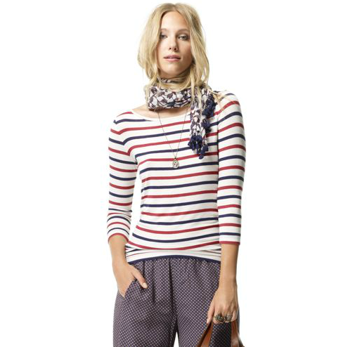 Back-to-school staple: Club Monaco Faye Stripe Tee ($70) Why it shouldn't be overlooked: There are some prints that will absolutely never go out of style, and stripes are certainly one of them. Sure, we sound like a broken record where this pattern is concerned, but really, how chic will this Parisian blue, red, and white top look with a midi skirt and oxfords?