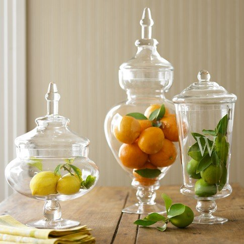 If prep isn't your thing, then go for a more refined, classic look with these Monogrammed Apothecary Jars ($40-$50). Fill them with fruit, candy, sea glass, or anything else you can think of for a simple and elegant centerpiece.