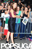 Jennifer Garner signed autographs for fans outside of Good Morning America.