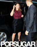 Jennifer Garner got out of her car at Good Morning America.