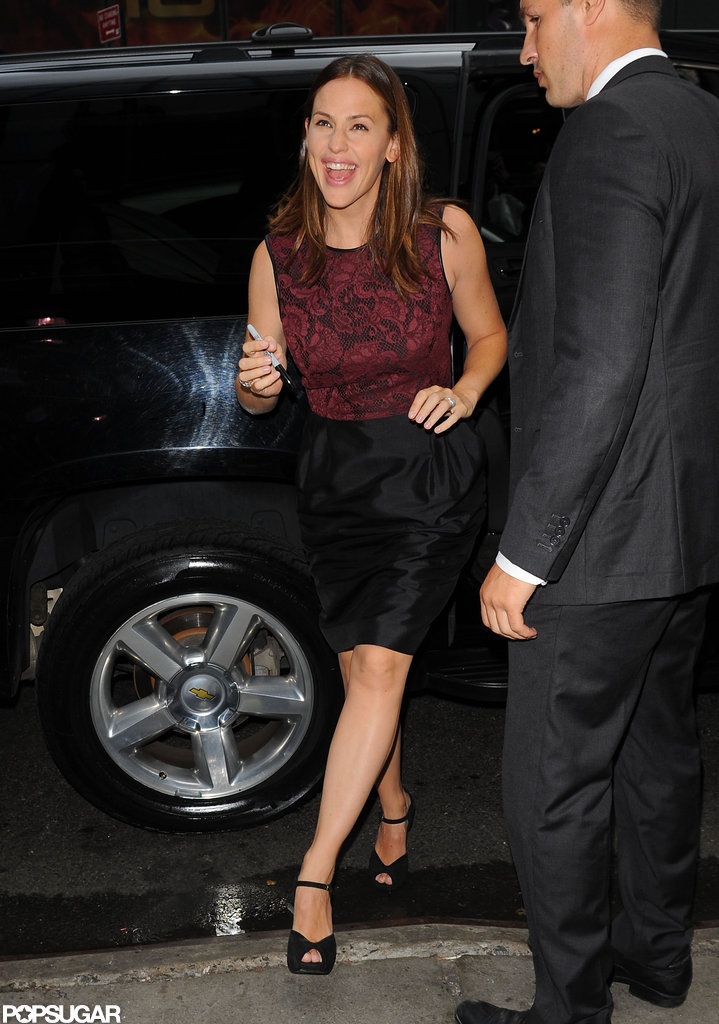 Jennifer Garner arrived at Good Morning America.